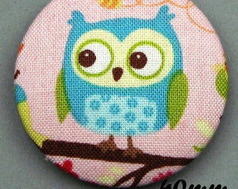 Fabric - OWL - 40mm (BP ANF 40 36) covered button