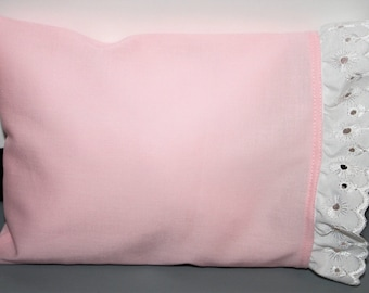 """Doll Pillow and Pillowcase Size 8 1/2"""" X 6 1/2"""