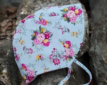 Reversible Floral Baby Bonnet