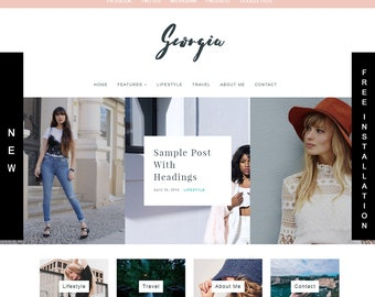 Wordpress Blog Theme& Template / Premade Theme / Lifestyle blogger / Fashion and Photography Blog Theme Template / Food Blog