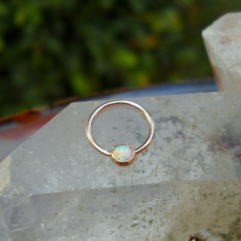 Nipple Ring Septum Ring Conch Ring 14K Rose Gold Filled