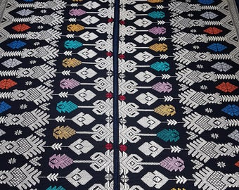 Handwoven Songket textile from Lombok, Indonesia. Set of 2 pieces 190cm long x 52cm each piece. Indonesian Table Runner, Wall Hanging