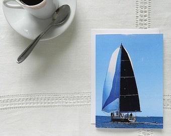 Nautical Greeting Card, Magic Sailboat Notecard, Card for Sailors, Photo Note Card, Blank Cards, Sailboat Card,Photo Notecard,Blue Note Card