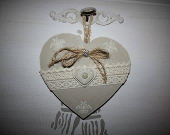 Fragrance plaster heart taupe