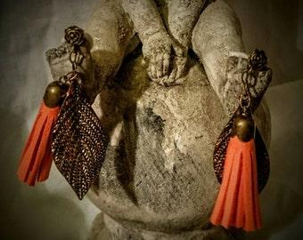 Boucles d'oreilles percées mandarine