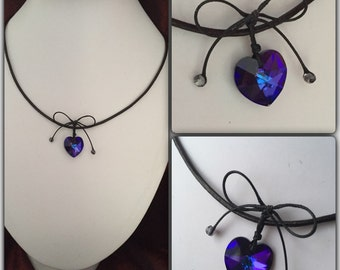 Swarovski Crystal Leather Necklace