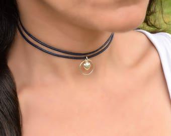 BDSM Day Collar, BDSM Collar Discreet, Slave Collar, Discreet Day Collar, Black Leather Collar, Submissive Day Collar, Submissive Jewelry