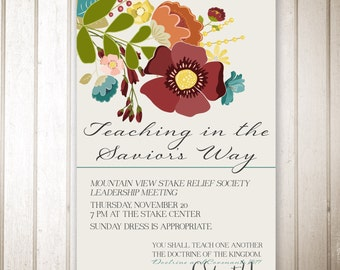 Relief Society Event Invitation - 5x7 size