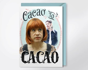 Cacao To Cacao - Portlandia Greeting Card - I'm Sorry Card - Carrie Brownstein - Fred Armisen - Nina And Lance Card - Funny Greeting Card