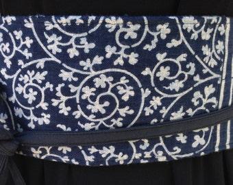 Japanese Indigo Cotton Obi Style  Belt-SALE