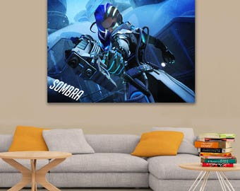 Overwatch Sombra Art Poster A0, A1, A2, A3, A4 Sizes Matte, Glossy Paper