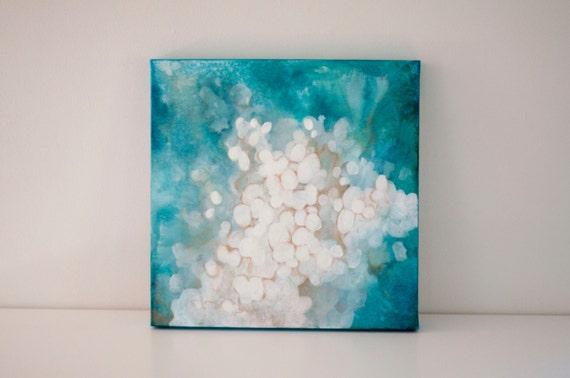 "Original 18x18 Painting ""Ocean Glow"" FREE SHIPPING"