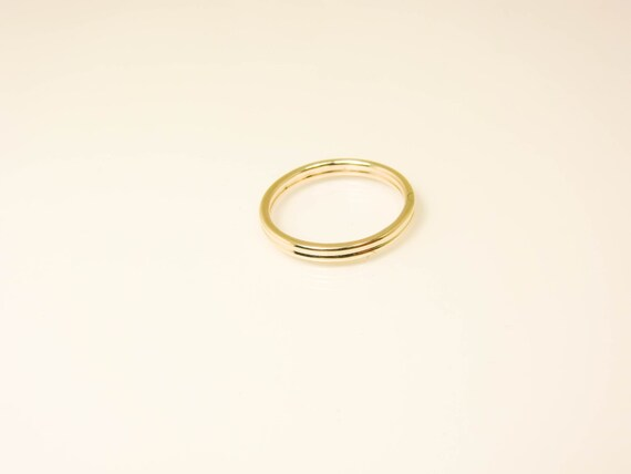 10K Gold Ring Real 10K Gold Double Ring Pure 10 Karat Gold