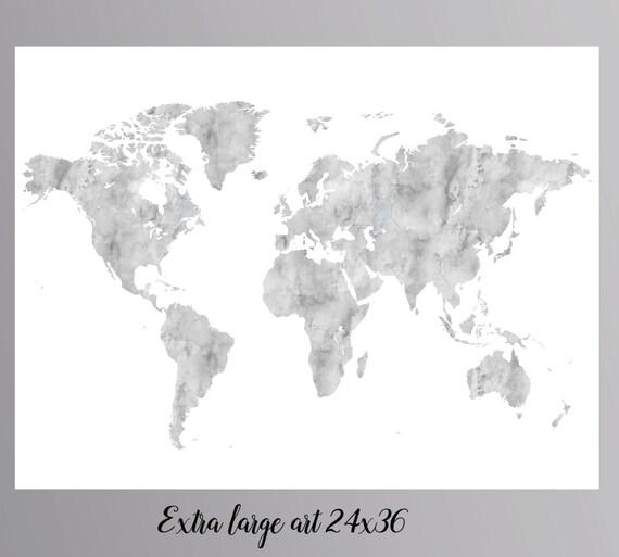 Grey world map gray world map large world map instant download grey world map gray world map large world map instant download world map wall art world map nursery world map printable world map wall print gumiabroncs Gallery
