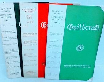 Vintage 1940 Guildcraft Opticians Magazine