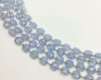 "Chalcedony Checker Beads 6-7mm (ONE 8"" Strand)"