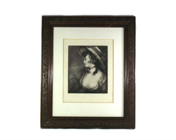 Antique Mezzotint Lady Waldegrave by John Hoppner