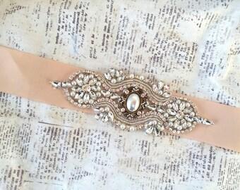 Bridal Sash Belt, Bridal Sash Vintage, Wedding Sash Belt Vintage, Crystal Wedding Belt, Crystal Bridal Sash, Wedding Belt Pearl