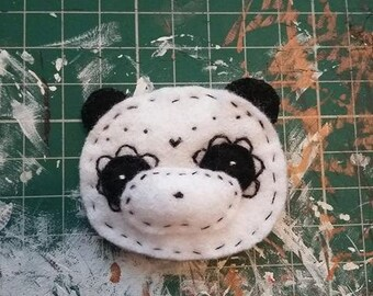 Felty Patterned Panda Badge