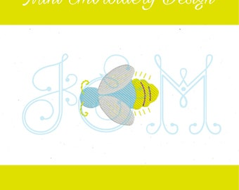 Lightning Bug Mini Fill Motif Vintage Style Machine Embroidery Design