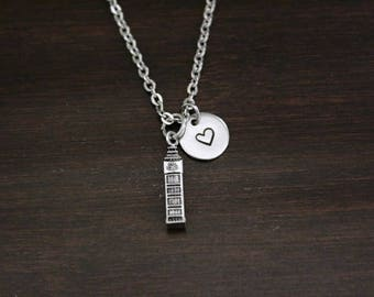 Big Ben Necklace - British Inspired Necklace - London - England Necklace - Palace of Westminster - Great Bell - I/B/H