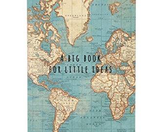 Vintage Map Pocket Travel Notebook