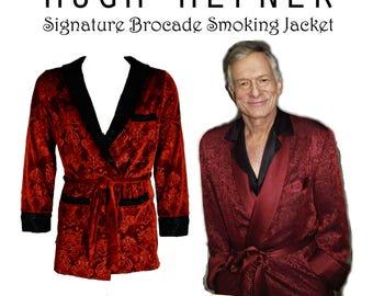 Signature Hugh Hefner Velvet Smoking Jacket & Lounge Pants Costume