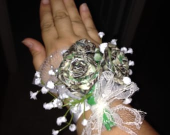 Camo Duck Tape Rose Trio Prom/Wedding Corsage Accessory Gift