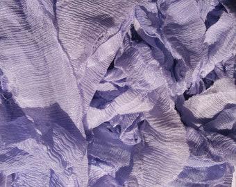 10 Yards LIGHT LAVENDER Supreme Silky Hand Dyed  Ribbon Sari Silk