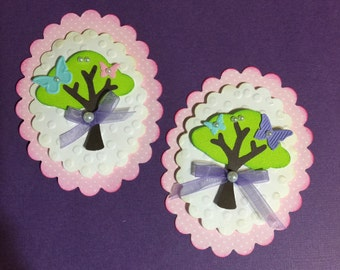Scrapbooking Embellishments Stampin Up Tree Builder Pink Tag
