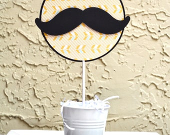 Mustache Cake topper or Centerpiece READY TO SHIP