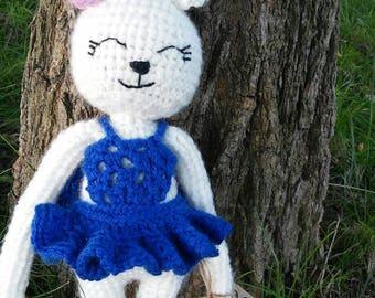 Funny bunny, ballerina, crochet dolls, handmade
