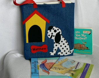 Dalmatian Dog Tote Bag|Child's Personalized Tote Bag|Daycare Bag|Toddler Bag|Christmas Gift Bag|Children's Library Book Bag|Preschool Bag