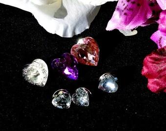 White Purple Red Heart Thumbtacks, Valentines White Purple Red Heart Pushpins, Valentines Day Gift, Gift For Her