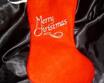 Christmas boot, Christmas gift, embroidered