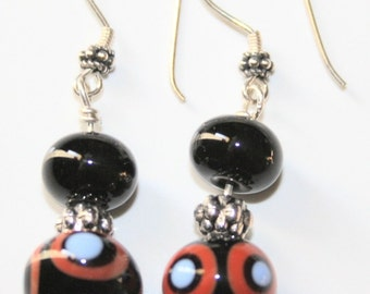 Black dangley earrings