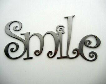 Smile, Metal Word Art