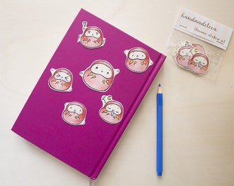 Daruma sticker pack, daruma stickers
