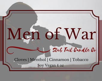 Men of War - Scented Soy Candle Inspired by Red Rising