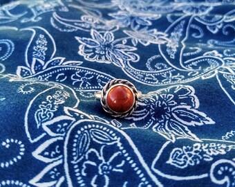 Sterling Silver Red Jasper Ring Size 6