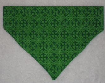 Celtic Dog Bandana - READY to SHIP - Irish Dog - Over the Collar Bandana