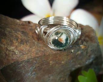 Tree Moss Agate Rings