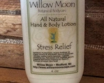 All Natural Shea  Butter Hand and Body Lotion Stress Relief
