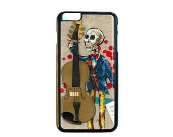 iPhone Case Choose Your Case Size Skeleton Cello Player #191