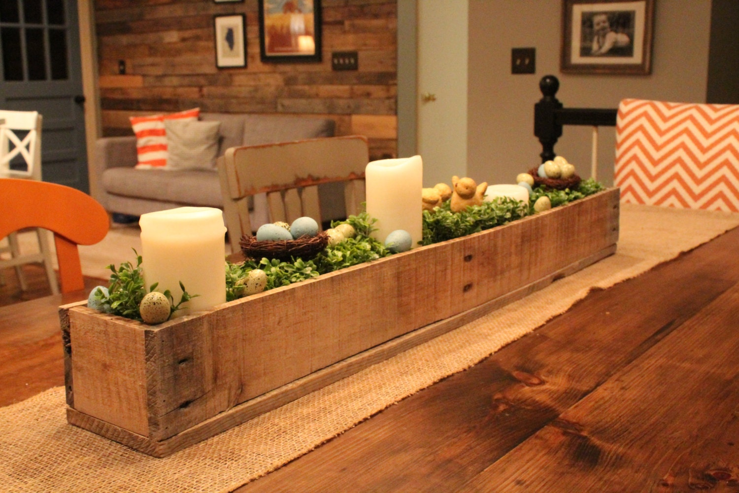 Centerpiece box made of rustic reclaimed wood planter box zoom junglespirit Image collections