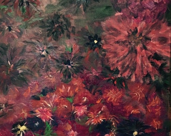 Painting Black Flowers