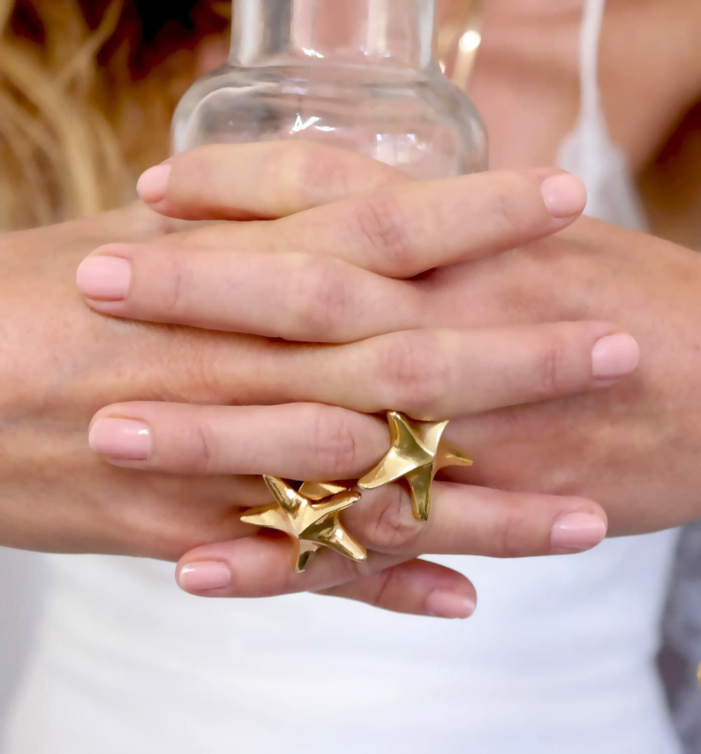 Star Ring Big Star Ring Gold Starfish Ring Starfish
