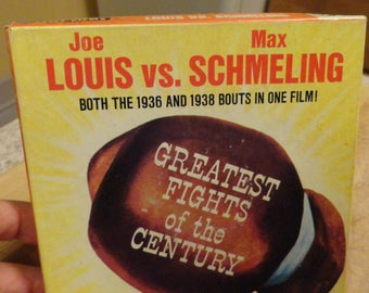 Vintage Castle Films Boxing Joe Louis vs Max Schmelling two bouts!