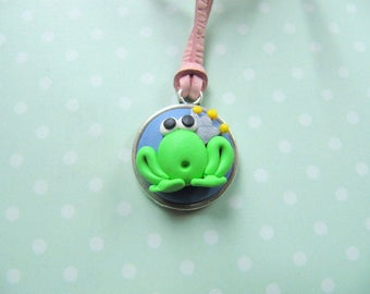 necklace,pendant,polymer clay, gift, gift idea, gift for girls, fimo