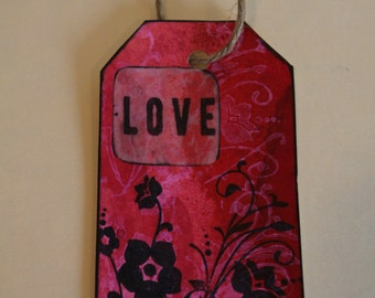 Love - Handmade Tag & Bookmark